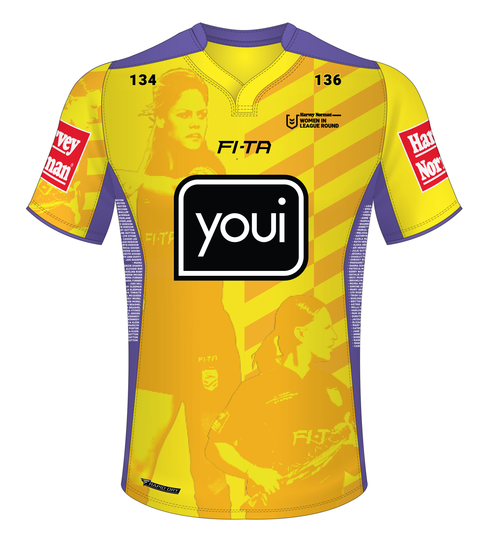 NRL Women In League Referee Shirt - Yellow
