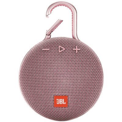 JBL - Clip 3 Portable Bluetooth Speaker with Carabiner - Pink